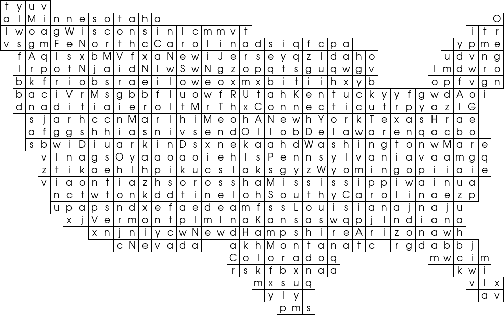 Free Word Searches Us States